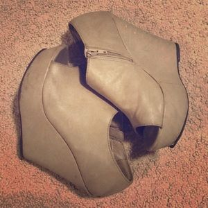 Cute open toed wedges